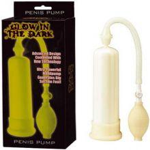 Glow İn The Dark Beyaz Penis Pompası L-310GW-BX