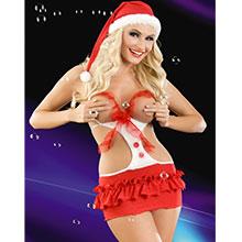 Yılbaşı Kostümü Seksi Fantazi Noel Kadın 2050