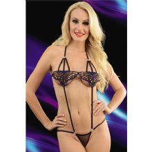Kelebekli Bayan Fantezi Body Çamaşır ART-7037