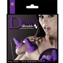 Double Ayrılabilir Titreşimli Vantuzlu Meme Klitoris Vajina Zevklendirici Vibratör C-N3017M