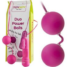 Duo Power Balls - Mor Renk 3.5 cm Çap Anal / Vajinal 2 li Orgazm Topu L-U7035