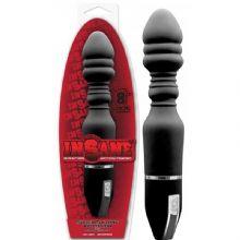 Bükülebilir Titreşimli Siyah 20 cm Anal Penis C-1349