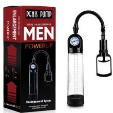Men Powerup - 20 cm Boy 7 cm Çap Fanuslu Basınç Göstergeli Penis Pompası C-463