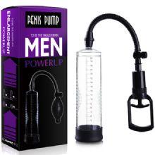 Men Powerup - 20 cm Boy 7 cm Çap Fanuslu Tetikli Penis Pompası C-464