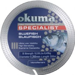 Okuma Bluefish 300 mt 27,00 lb 12,27 kg 0,37 mm Clear Misina