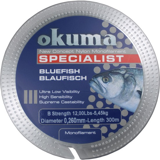 Okuma Bluefish 300 mt 16,90 lb 7,68 kg 0,31 mm Clear Misina